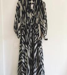 H&M Zebra mintás maxi ruha