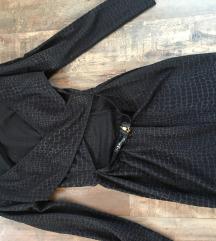 Fekete mintás ruha