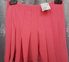 H&M pink rózsaszín rakott szoknya(ingyen posta