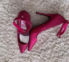 Dögös pink csillogós magassarkú