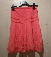 narancsságás piros vékony szoknya, új