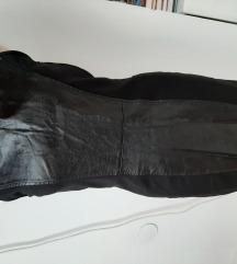 Fekete bőrbetétes ruha