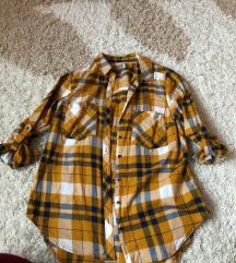Mustár színű kockás ing