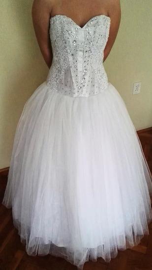 Menyasszonyi ruha szalagavatóra: fűzős 38-42