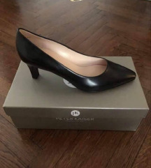 P. Kaiser MANOLO Fekete bőr női félcipő - ÚJ