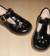 Clarks fekete lakkbőr cipő, lakkcipő 22