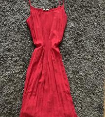 h&m piros nyári lenge ruha pántos elegáns