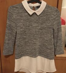 Terranova fehér, szürke ing felső - új -