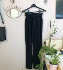 Fekete paperbag nadrág
