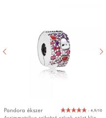 Pandora másolat klip ezüst