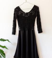 Fekete csipkés ruha H&M S-XS