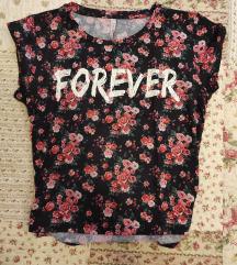 Virágos rövid ujjú póló