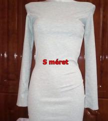 Új szürke vállejtős mini ruha