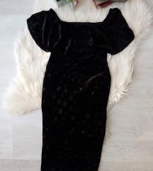 New Look bársony csillagos bardot ruha S