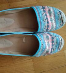 színes espadrilles női cipő 40