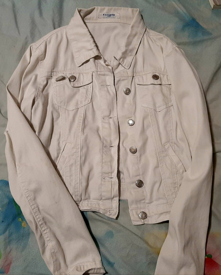 Fehér farmer kabát