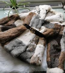 Gyönyörű nyuszi valódi szőrme kabát M