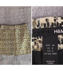 H&M ARANY-FEKETE SZOKNYA