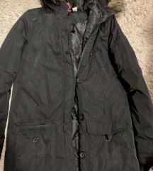 fekete átmeneti kabát - új