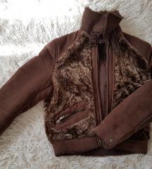 Szőrmés irha kabát