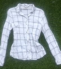 Orsay fehér kockás blúz