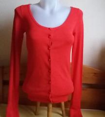 Zara piros vékony kardigán, S-es
