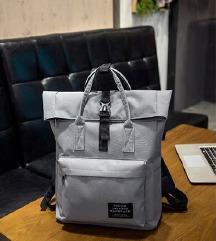 Szürke női hátizsák - laptoptartóval