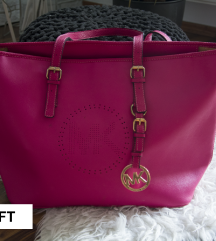 MK pink tote táska