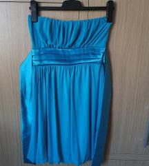 Hagyma aljú kék elegáns, alkalmi ruha