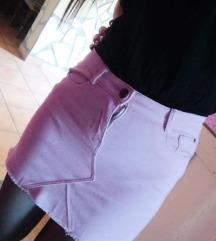 Rózsaszín farmer szoknya xs