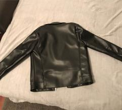 Zara bőr kabát 3000.- S