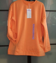 Sinsay narancs színű pamut felső - M
