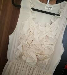 Plisszírozott aljú ruha