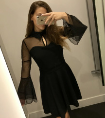 Fekete extra ruha ÚJ S-M