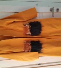 Új Shein mustár lepel kabát