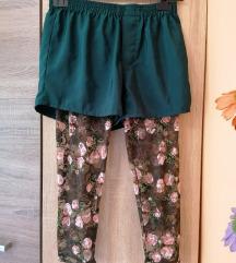 OKAY, rövidnadrágos, rózsamintás leggings, 40-es