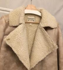 MANGO szőrme kabát