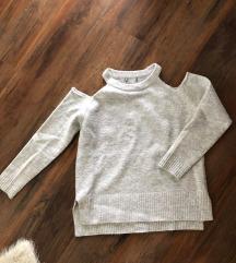 Zara szurke off shoulder pulóver