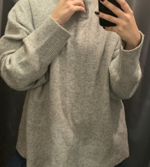 Zara Knit oversized pulóver