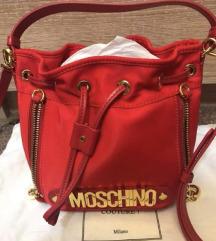 Moschino piros bucket bag táska