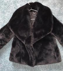 Mohito fekete elegáns meleg bunda téli