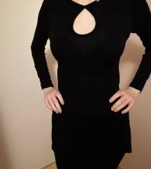Különleges szexi pamut olasz fekete ruha S 36