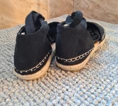 Fluffyslippers fekete espadrilles szandál