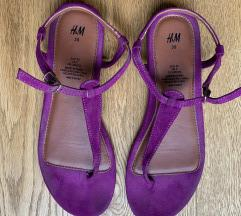 H&M lila saru szandál