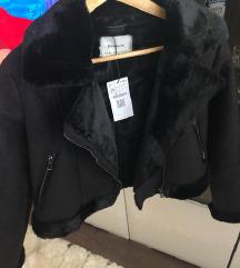Stradivarius fekete aviator biker kabát