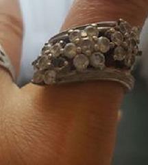 Csodaszép 3 virágból álló ezüst gyűrű cirkónia
