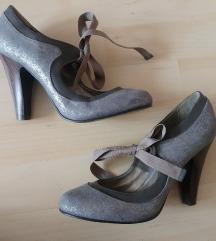Szürke csillámos lace-up, lace up cipő 38