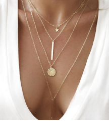 4 rétegű arany nyaklánc ÚJ