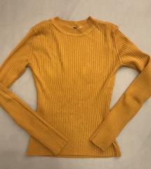 Sárga és szürke színű bordázott felsők