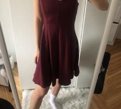 Elegáns bordó ruha